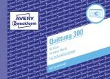 Avery Zweckform® 300 Quittung inkl. MwSt. - A6 quer, MP, BL, fälschungssicher, 50 Blatt Quittung