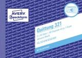 Avery Zweckform® 321 Quittung inkl. MwSt. - A6 quer, MP, BL, fälschungssicher, 2 x 50 Blatt, weiß