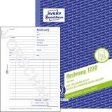 Avery Zweckform® 1230 Rechnung, DIN A5, vorgelocht, 100 Blatt, weiß Rechnungsbuch weiß 100 Blatt