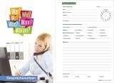 RNK Verlag Gesprächsnotizblock, 50 Blatt, DIN A5, weiß Gesprächsnotiz A5 100 Blatt weiß