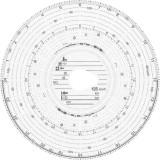 RNK Verlag Original HAUG Diagrammscheiben 125 100 (125 km/h Kombi), 100 Stück Tachoscheibe 125 km/h