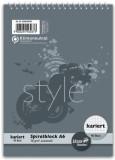 Staufen® style Spiralblock A6 40 Blatt 70g/qm 5mm kariert Spiralblock kariert A6 70 g/qm 40