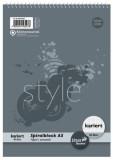 Staufen® style Spiralblock A5 40 Blatt 70g/qm 5mm kariert Spiralblock kariert A5 70 g/qm 40