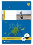 Ursus Basic Heft LIN1 A4 16 Blatt 80g/qm 5/5/5mm liniert farbig Heft A4 80g/qm 16