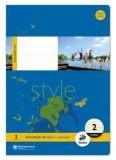 Ursus Basic Heft LIN2 A4 16 Blatt 80g/qm 4/4/4mm liniert farbig Heft A4 80g/qm 16
