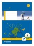 Ursus Basic Heft LIN1 A5 16 Blatt 80g/qm 5/5/5mm liniert farbig Heft A5 80g/qm 16