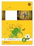 Ursus Basic Heft LIN2 A4 32 Blatt 80g/qm 4/4/4mm liniert farbig Heft A4 80g/qm 32