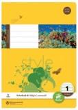 Ursus Basic Heft LIN1 A5 32 Blatt 80g/qm 5/5/5mm liniert farbig Heft A5 80g/qm 32