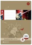 Staufen® style Notenheft - A4, 8 Blatt, 80 g/qm, 12 Notensysteme Notenheft A4 80 g/qm 8
