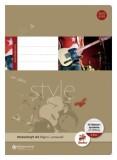 Staufen® style Notenheft - A4, 8 Blatt, 80 g/qm, 12 Notensysteme + Hilfslinien Notenheft A4 80 g/qm