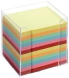 Folia Notizboxen - glasklar, ca. 700 Blatt - bunt (sortiert), lose Zettelbox bunt (sortiert)