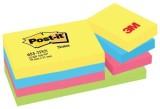Post-it® Haftnotizen Active Collection - 51 x 38 mm, 12 Blöcken Haftnotizblock 51 x 38 mm