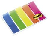 Post-it® Haftstreifen Index Leuchtfarben, 5 Leuchtfarben mit je 20 Streifen im Etui Index