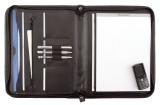Alassio® Reißverschlussmappe MILANO - A4, Lederimitat, schwarz Lieferung ohne Inhalt. Schreibmappe
