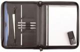 Alassio® Reißverschlussmappe MILANO - A4, Echt Leder, schwarz Lieferung ohne Inhalt. Schreibmappe