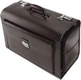 Alassio® Pilotenkoffer VERONA Pilotenkoffer Echt Leder schwarz ca. 475 x 245 x370 mm