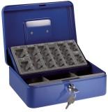 Alco Geldzählkassette Euro - blau mit Münzzähleinsatz Geldkassette blau 250x180x90 mm
