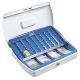 Burg-Wächter Geldzählkassetten Office Größe: 330x235x75mm - weiß/blau Geldkassette weiß/blau