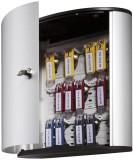 Durable Schlüsselkasten KEY BOX - 18 Haken, mit Zylinderschloss, grau Schlüsselschrank 18 Haken