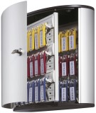 Durable Schlüsselkasten KEY BOX - 36 Haken, mit Zylinderschloss und Panel, grau Schlüsselschrank