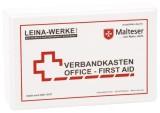 Leina-Werke Betriebsverbandkasten Office-First Aid - inkl. Wandhalterung - Kunststoff weiß