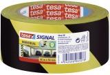tesa® Markierungsklebeband Universal - gelb/schwarz - 66 mm x 50 m Warnmarkierungsband gelb/schwarz