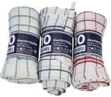 Clean Haushaltshelfer Geschirrtuch, farbig sortiert, 100% Baumwolle Geschirrtuch 50x70 cm 10 Stück