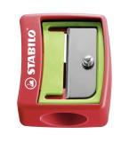 Stabilo® Spitzer, Kunststoff, sortiert Spitzer rot/grün und grün/rot - Farbwahl nicht möglich