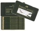 Faber-Castell Bleistift CASTELL® 9000 12er DesignSet Bleistift 5B - 5H dunkelgrün 12 Stück