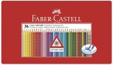 Faber-Castell Buntstift Colour GRIP - 36 Farben, Metalletui ergonomische Dreikantform mit Namensfeld