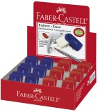 Faber-Castell Radierer SLEEVE mini, Farbe: brombeer / blau sortiert Radierer brombeer/blau Papier