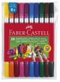 Faber-Castell Doppelfasermaler, farbig sortiert im Etui Faserschreiberetui sortiert 1 und 3-5 mm