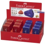 Faber-Castell Doppelspitzdose SLEEVE - rot / blau sortiert Dosenspitzer sortiert 32 x 70 x 20 mm