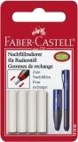 Faber-Castell Ersatzradierer Eraser Pen, Kunststoff, auf Blisterkarte Ersatzeinsatz für Eraser Pen