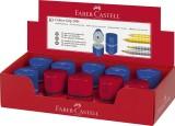 Faber-Castell Dreifachspitzdose GRIP2001 - farbig sortiert im Display Dosenspitzer Dreifachspitzdose