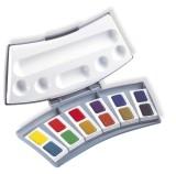 Pelikan Aquarell-Malkasten 725D/12, Kunststoffkasten mit 12 Farben 2 Wasserboxen und Mischpalette