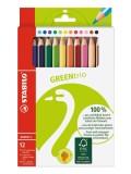 Stabilo® Dreikant-Buntstift GREENtrio - 12er Kartonetui Dreikant-Buntstift für Vorschulkinder
