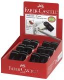 Faber-Castell Radierer SLEEVE mini, Farbe: schwarz ergonomische Form für angenehmes Radieren Papier