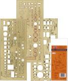 KOH-I-NOOR Schablone Elektro - 3er Set Schablone
