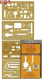 KOH-I-NOOR Schablone Chemie - 4er Set Schablone