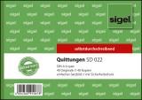 Sigel® Quittungen mit Sicherheitsdruck - A6 quer, einfaches Satzbild, 1. und 2. Blatt bedruckt, SD, MP,  2 x 40 Blatt