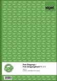 Sigel® Post-Eingangs-/Ausgangsbuch - A4, beidseitig bedruckt, 50 Blatt Protokollbuch A4 50 Blatt