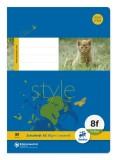 Ursus Basic Heft - LIN8f, A5, 16 Blatt, 80 g/qm, 5x7 mm rautiert mit Rand Heft 8f: rautiert mit Rand