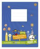 Formati Creativheft Quart W.6 - 20 Blatt 80g/qm Wolkenfelder + 10mm liniert Wörterheft