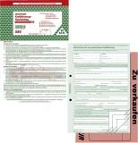 RNK Verlag Kaufvertrag für ein gebr. Kfz - SD, 1x4 Blatt, DIN A4, mit Verkaufsplakat Kaufvertrag A4