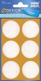 Avery Zweckform® 59465 Z-Design Filzgleiter rund, weiß, 35 mm, 6 Stück Filzgleiter weiß 35 mm