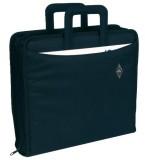 Wedo Ordnertasche - Polyester, A4-Ordner bis 75mm Rückenbreite, schwarz Schreibmappe schwarz 67 cm