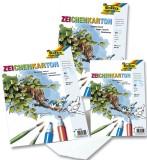 Folia Zeichenkarton 120 g/qm, DIN A2, 10 Blatt Zeichenkarton A2 120  g/qm weiß Block mit 10 Blatt