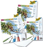 Folia Zeichenkarton 200 g/qm, DIN A3, 25 Blatt Zeichenkarton A3 200  g/qm weiß Block mit 25 Blatt