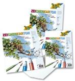 Folia Zeichenkarton 250 g/qm, DIN A4, 25 Blatt Zeichenkarton A4 250  g/qm weiß Block mit 25 Blatt